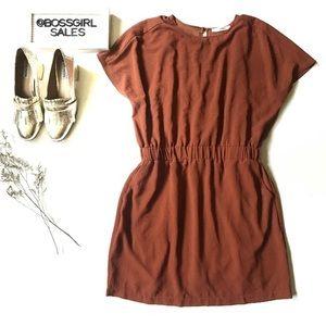 Carmela Rust Simple Dress Size Large